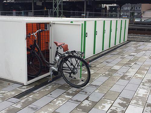 Fahrradfreundlich Gunstig Und Sicher Abschliessbare Fahrradboxen Am